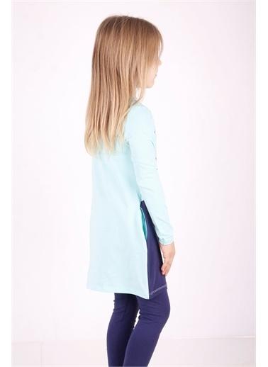 Toontoy Kids Toontoy Kız Çocuk Tavşan Baskılı Cepli Elbise Renkli